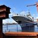 "Foto ini menunjukkan FREMM ""Fregat serba guna Eropa"", yang dirancang oleh DCNS/Armaris dan Fincantieri untuk angkatan laut Prancis dan Italia, sedang dibangun di galangan kapal Naval Group, sebuah kelompok industri Prancis yang mengkhususkan diri dalam pertahanan angkatan laut dan energi terbarukan, pada 29 Maret 2018 di Lorient, Prancis."