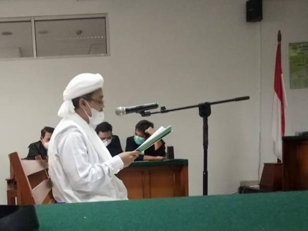 Rizieq Kecam 'Diskriminasi Hukum' dalam Kasus Pelanggaran Prokes Covid-19